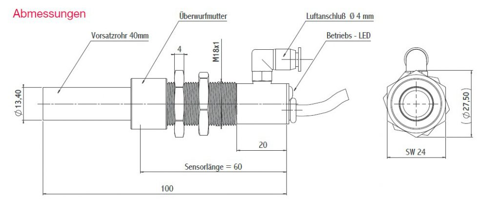 infrarottemperatursensornovasensir502gacv40abmessungen